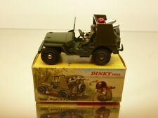 DINKY TOYS 828 JEEP ROCKET CARRIER - ARMY GREEN L7.0cm - EXCELLENT IN BOX