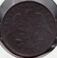 1815 - Lower Canada - Spread Eagle - ½ Penny - Superfleas - LC-54D2