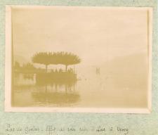 Suisse, Genève, Lac de Genève, effet de soir, ca.1900, vintage citrate print Vin
