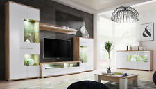 Living Room White high gloss  chest of drawers shelve storage display cabinet tv
