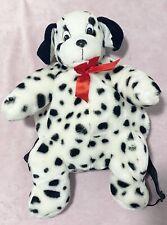 Vintage Deva Kidz Dalmatian Plush Backpack Bag Zipper Dog