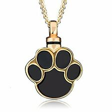 Urn for Dogs Ashes Necklace Pendant Cremation Pet Gold FREE Shipping