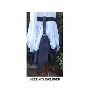 Medieval Skirt Hikes Black Leather Skirt Hikes Skirt Chaser, Renaissance cosplay