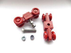 Europa Manor Greenhouse Door Wheel Kits, Big Red Set of Two Blocks, Door Rollers
