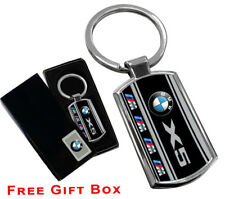 BMW X5  KEYRING KEY CHAIN RING FOB CHROME METAL NEW GIFT