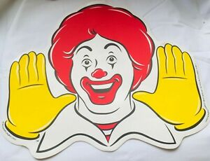 MCDONALDS Ronald Large Place Mat Coaster VINTAGE Happy Meal Toy Promotional RARE