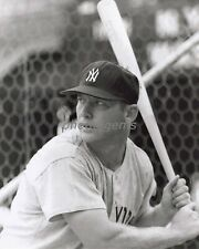 1960s Mickey Mantle New York Yankees Ready at the Plate 11x14 Archival Photo