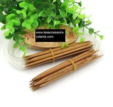 aiguille à tricoter circulaire bambou 2-10 long. 40cm tige 10 cm  brun mercerie