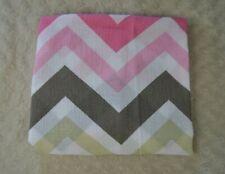 Lollypop Chevron Baby Blanket Swaddle Muslin Pink White Tan Gray Zig Zag