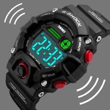 SKMEI S Shock Mens Sport Alarm LED Digital Military Shockproof Waterproof Watch