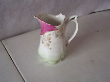 """TWO VICTORIAN CREAMERS 5"""" X  4"""" & 4 1/2' x 3 1/2"""" HAND PAINTED NO DAMAGE NO MARK"""