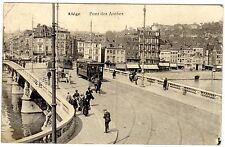 1424/ Foto AK, Liege, Straßenbahn, 1914