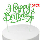 New 10Pcs Cake Decor Card Toppers For Kids Birthday Party Cake Decor Supplies