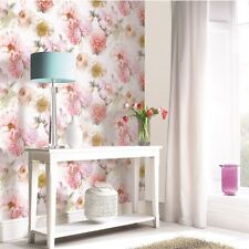 DIAMOND BLOOM FLORAL WALLPAPER BLUSH PINK - ARTHOUSE 257000 ROSE FLOWERS