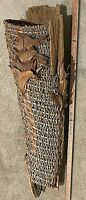 Driftwood, Palm Flower Stalks, Giant Philodendron Leaf Sheath Wall Sculpture 28""