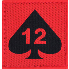 12 ARMOURED INFANTRY BRIGADE 12 ARM INF RED/BLACK TRF FLASH