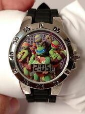 JCPennys Teenage Mutant Ninja Turtles TMNT Black Silicone Band Digital Watch