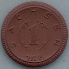 Sachsen 1 mark 1921 porcelain / porzellan notgeld