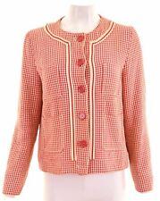 MAX MARA Womens Overjacket UK 14 Medium Multicoloured Cotton  HO13