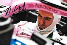 Nicholas Latifi firmado, Force India Test Driver retrato, test de Barcelona 2018