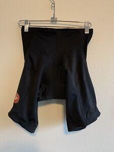 Castelli Size Large Men's Evoluzione Cycling Shorts Black Color