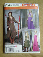 SIMPLICITY PATTERN 1010  MEDIEVAL THRONE COSTUMES MISSES SIZE 6 8 10 12 14 UNCUT