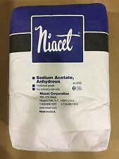 Sodium Acetate Anhydrous 99.5% PURE MIN. 50lb bag