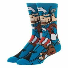 Marvel NEW * Captain America Casual Crew Socks * One Size Fits Most Men Women