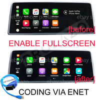 BMW Apple Carplay Split screen to Fullscreen CODING VIA ENET cable