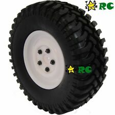 """2pcs RC 1/10 1.9"""" 100mm Crawler Tires Tyres Wheels for tamiya rc4wd accessories"""