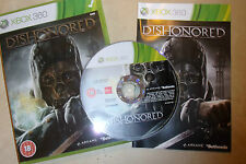 XBOX 360 GAME DISHONORED +BOX +INSTRUCTIONS COMPLETE PAL GWO