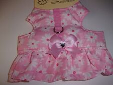 Pink Daisy Ruffle Body Harness Dress XXS XS Pet Dog No Choke Bond & Co XSmall