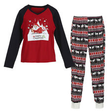 Family Matching Christmas Pajamas Set Women Baby Kids Santa Sleepwear Nightwear