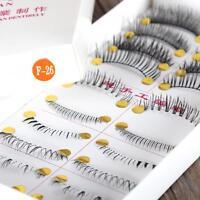 10 Pairs Handmade Black Eyelashes Bottom Lower Upper Eye Lashes Extension