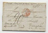 1848 Bares Ohio manuscript stampless transatlantic switzerland DPO [H.402]