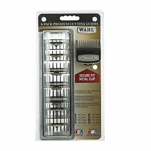 Wahl 8 pack Premium Clipper Attachment Comb Guard Guide Set w/ Free Organizer