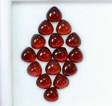 9.33 Cts Natural Garnet Pear Cabochon 5 mm Lot 16 Pcs Red Shade Loose Gemstones