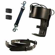 Boston Leather Firefighters Bundle With Universal Firefighters Radio Holder