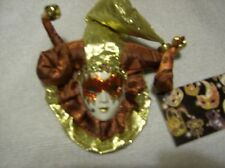 Venetian Mask Masquerade Carnival Wall plaque dark red and gold