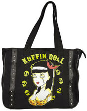 78034 Koffin Doll Dead Pin Up Girl Skulls TOTE BAG Sourpuss Psychobilly Zombie
