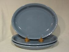 "Syracuse Syscoware ""Moterey Blue"" Large Oval Serving Tray/Platter - Set of 3"