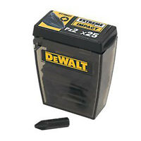 DeWalt DT70527 PZ2 Pozi 2 Extreme Impact Screw Driver 25mm Bit TicTac Pk of 25