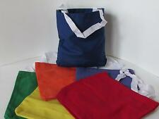 24 Colored CANVAS TOTE BAGS primary colors wedding shower party tote bag