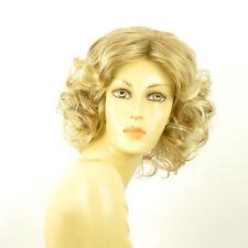 Perruque femme mi-longue blond méché blond très clair CAMIE 15t613