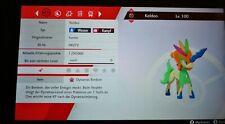NEW Pokemon Schwert Schild Keldeo Shiny 6x31 Level 100 BR100% Onlinefähig Legal