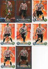 Sunderland FC - 8 tarjetas comerciales firmada-fútbol