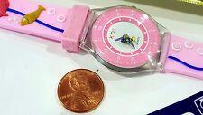 Unisex KIDS Square Quartz watch Pink Dial Multicolor band (Fish)
