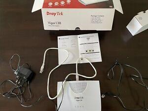 DrayTek Vigor130 VDSL2/ADSL2+ Modem. Barely used