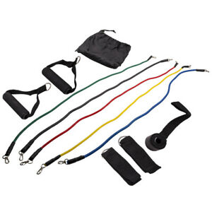 11 pcs Upgrade Resistance Loop Bands For Exercise Sports Fitness Home Gym Yoga