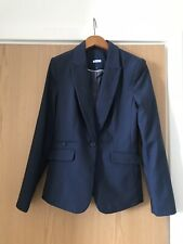NEXT WOMEN'S SUIT TAILORED DARK BLUE BLENDED FITTED JACKET size 6R brand new